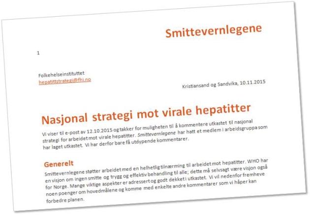 Viktig med nasjonal hepatitt-strategi